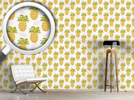 Papier peint design I Want Pineapples