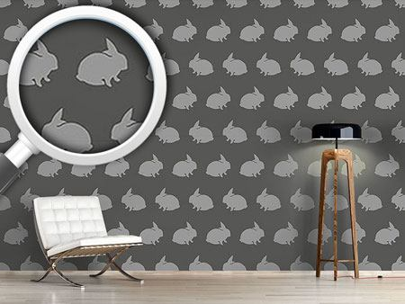 Papier peint design Grey Rabbits