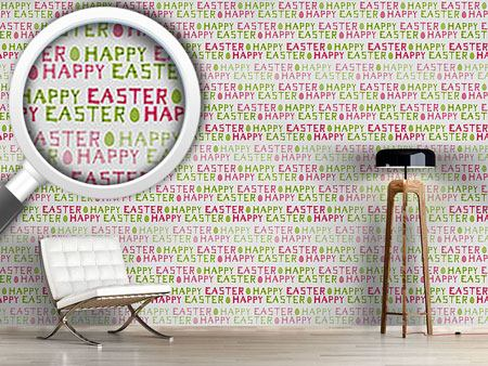 Papier peint design Happy Easter Eggs