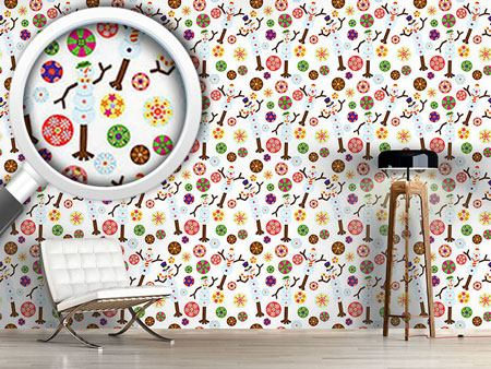 Pattern Wallpaper Snowman