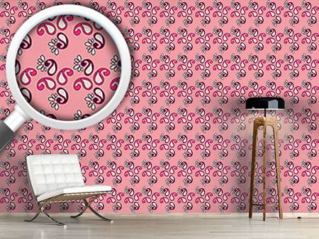 Papier peint design Fancy Paisley Pink