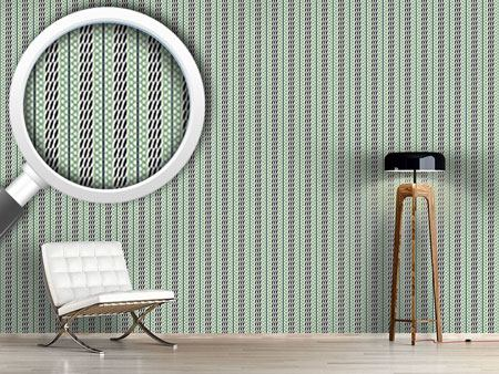 Pattern Wallpaper Pastel Green Stripes
