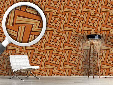 Papier peint design Maze Brown