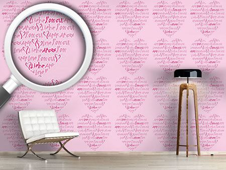 Pattern Wallpaper Declaration Of Love