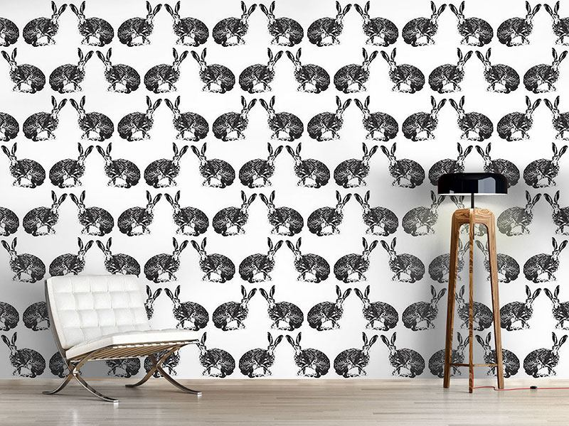 Pattern Wallpaper Hare Hunting