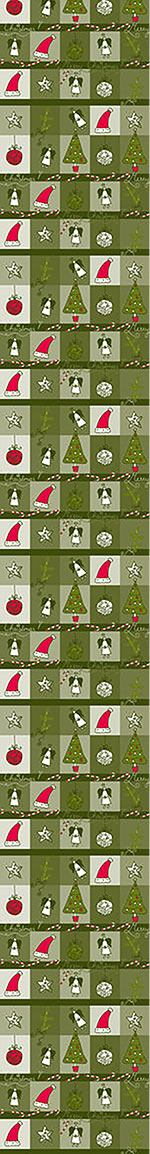 Pattern Wallpaper Christmas Dream Green