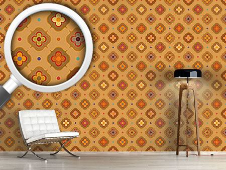 Pattern Wallpaper Vintage Abstract Flowers