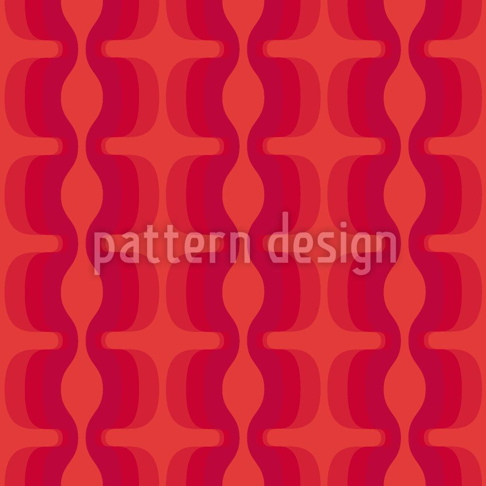 Pattern Wallpaper Electric Red