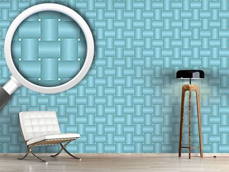 Pattern Wallpaper Intertwined Blue