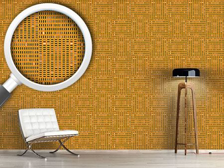 Pattern Wallpaper Tilo Orange