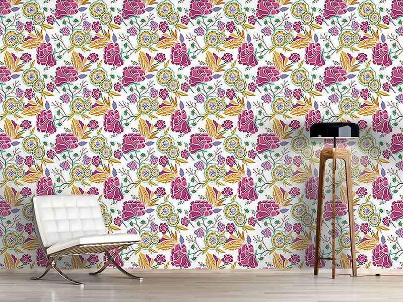 Pattern Wallpaper Florial Art At Day