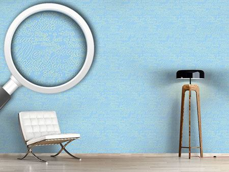 Pattern Wallpaper Heavenly Blue Words