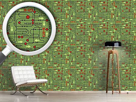 Pattern Wallpaper Circuit board