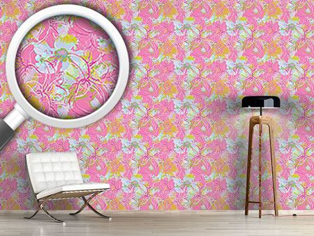 Papier peint design Liliana In Pink
