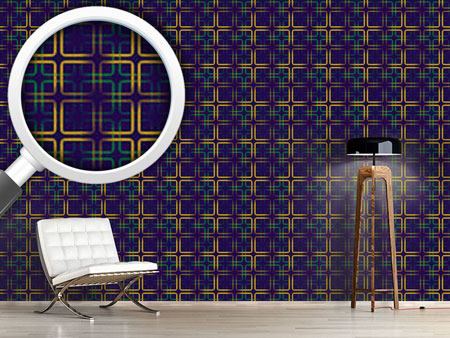 Pattern Wallpaper Golden Frames