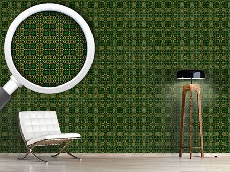 Pattern Wallpaper Ninety One In Gold Letters