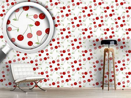 Pattern Wallpaper Cherries For Dessert