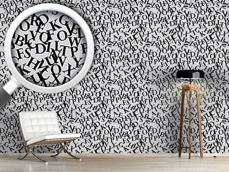 Pattern Wallpaper Perpetuas Letters