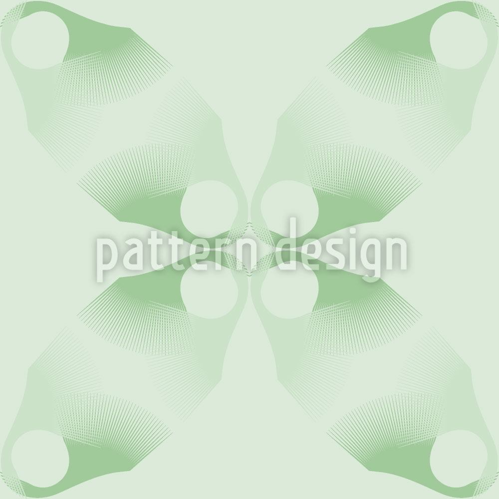 Pattern Wallpaper Flowers Lost On Green