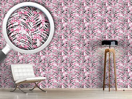 Papier peint design Flamingos In Palm Beach