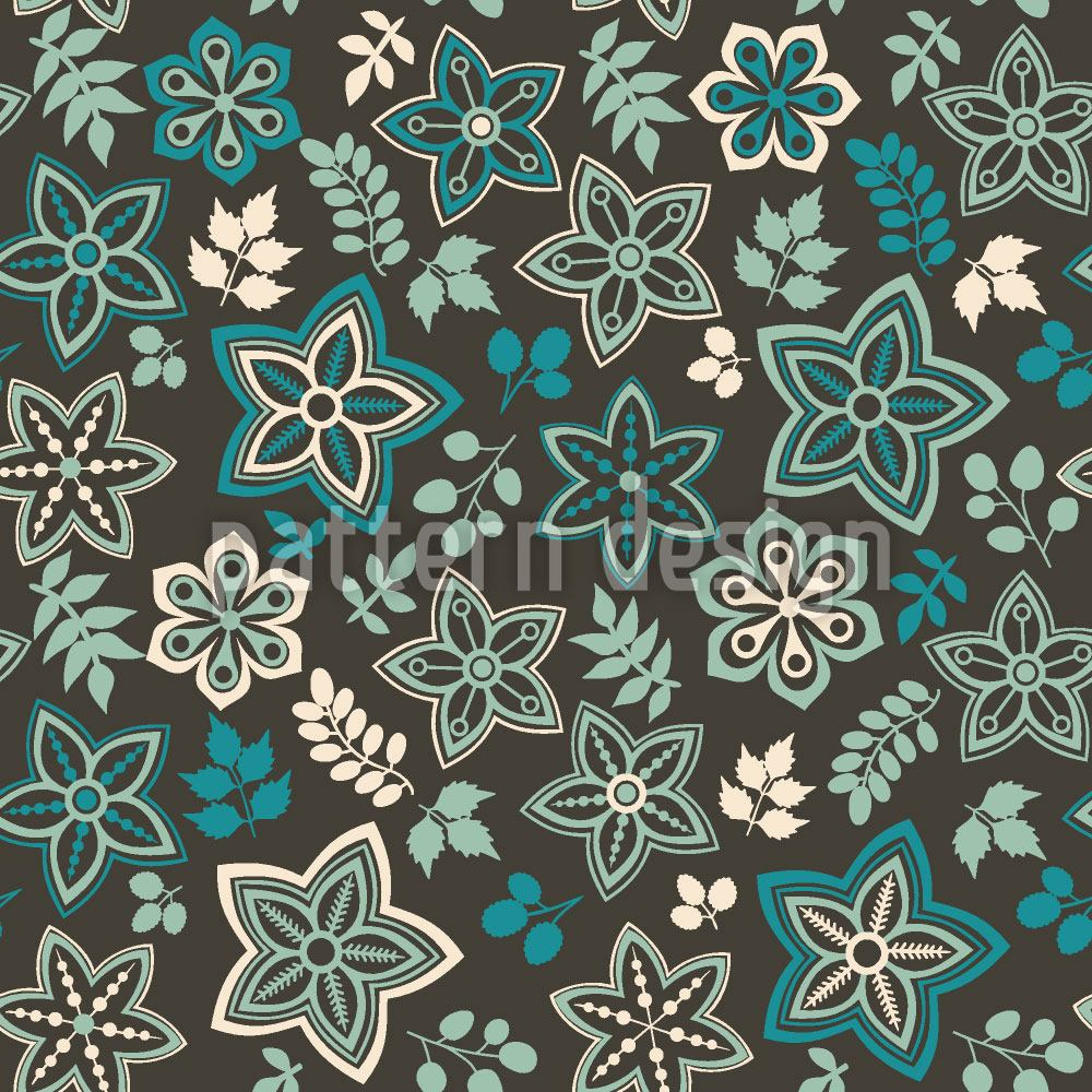 Pattern Wallpaper Blossom And Leaf Fantasy