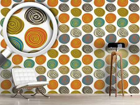 Pattern Wallpaper Stone Circles