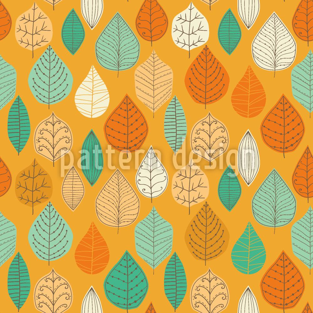 Papier peint design The Falling Leaves