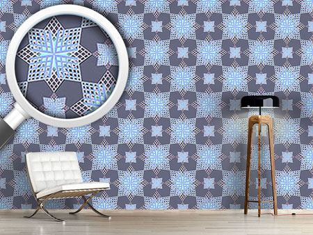 Pattern Wallpaper Grid Stars