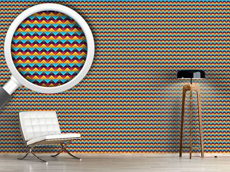 Papier peint design Chevron At Day And Night