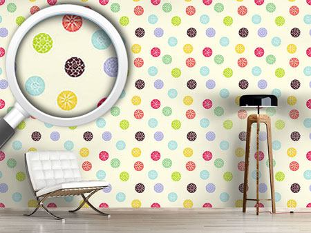 Papier peint design Blooming Dots