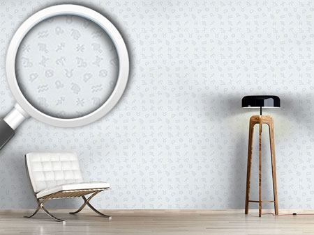 Pattern Wallpaper Zodiac monochrome