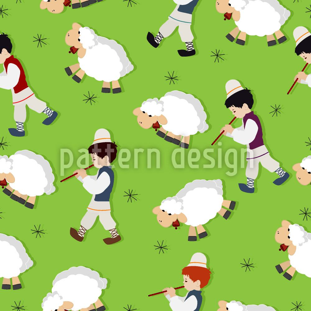 Papier peint design The Little Shepherds