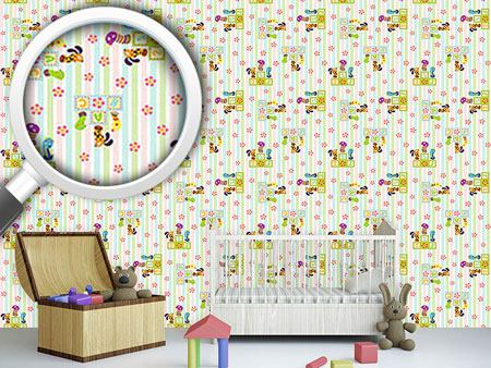 Pattern Wallpaper Animal Winner In The Nursery