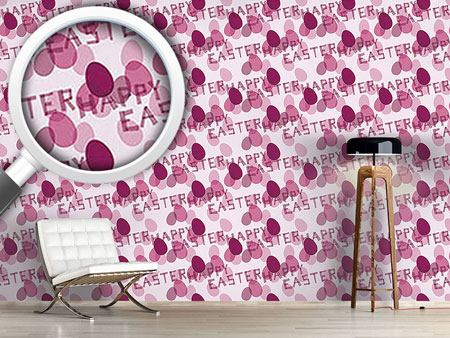 Papier peint design Happy Easter Lavender