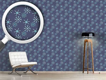 Pattern Wallpaper Snowstorm