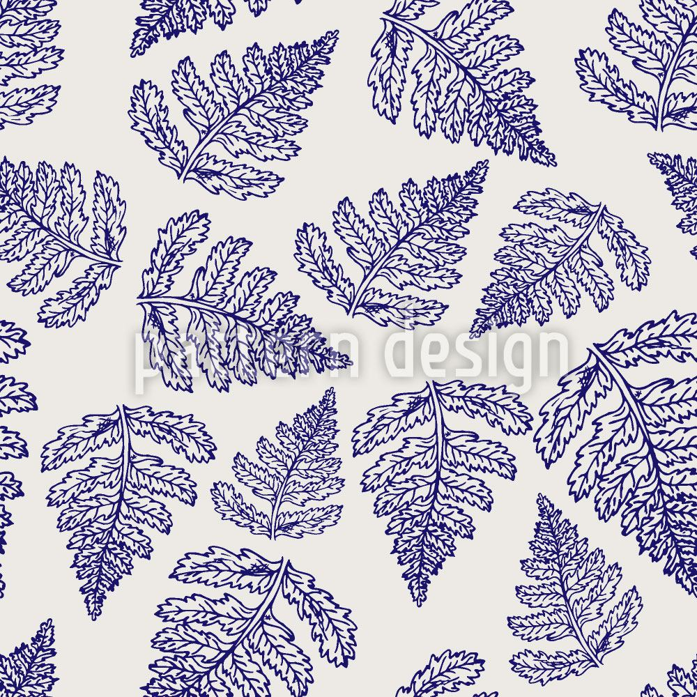 Pattern Wallpaper Fern Leaf