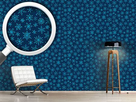 Pattern Wallpaper Snowflake Doodles