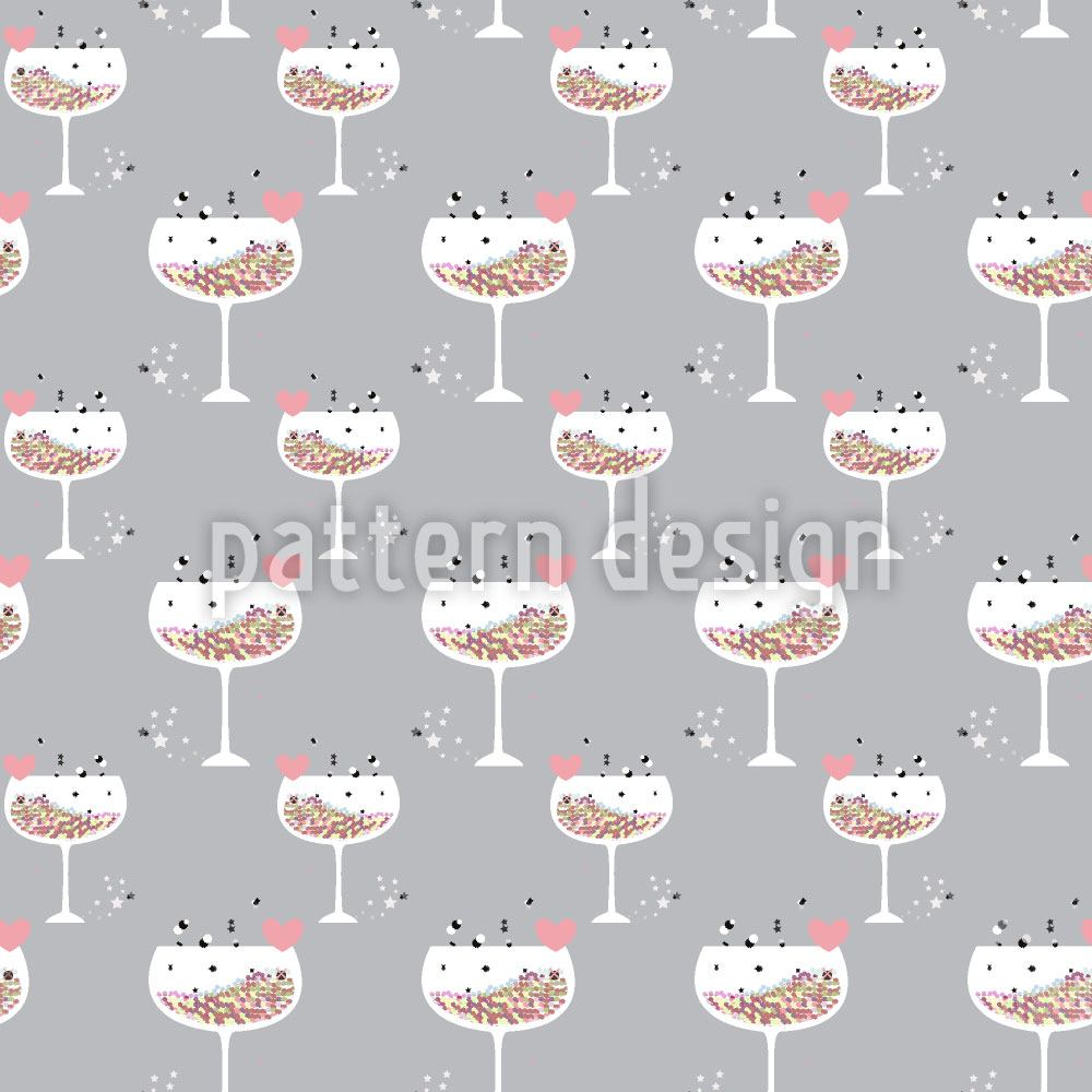 Pattern Wallpaper Hexagon Cocktail For Lovers
