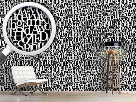 Pattern Wallpaper Letters Connected