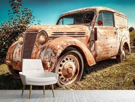 Photo Wallpaper Oldtimer with rust