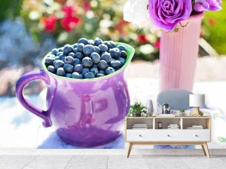 Photo Wallpaper Sweet blueberries