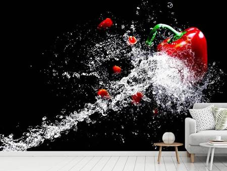 Papier peint photo Paprika Splash XL