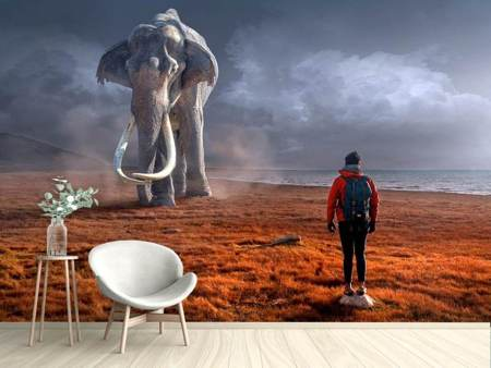 Photo Wallpaper Fantasy mammoth