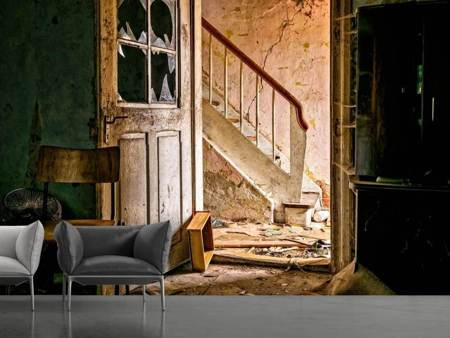 Photo Wallpaper Crumbled stairs