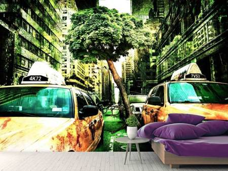 Photo Wallpaper Taxi fantasy