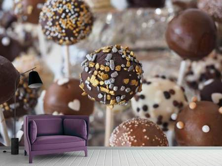Photo Wallpaper Chocolate lollipops