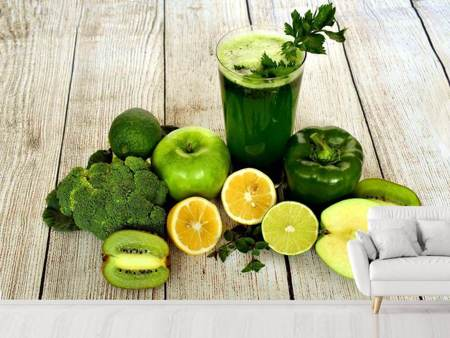 Photo Wallpaper Ingredients green smoothie