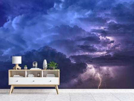 Photo Wallpaper Lightning in the sky