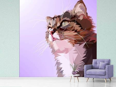 Photo Wallpaper Pop Art Cats Portrait