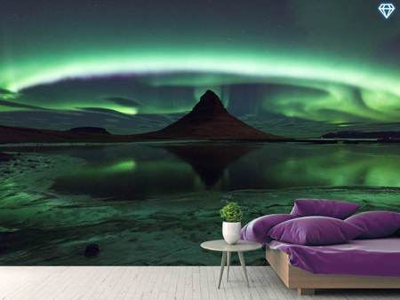 Photo Wallpaper Kirkjufell Aurora